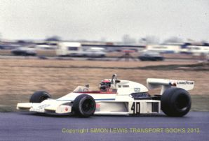 "McLaren M23 Tony Trimmer Silverstone F1  1978 10x7"" photo (a)"